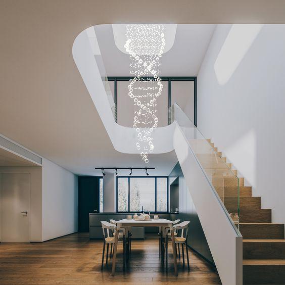 Inspirasi penggunaan chandelier - source: modernchandeliers.eu