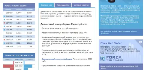 Форекс-брокер Forex EuroClub: обзор деятельности мошеннической конторы