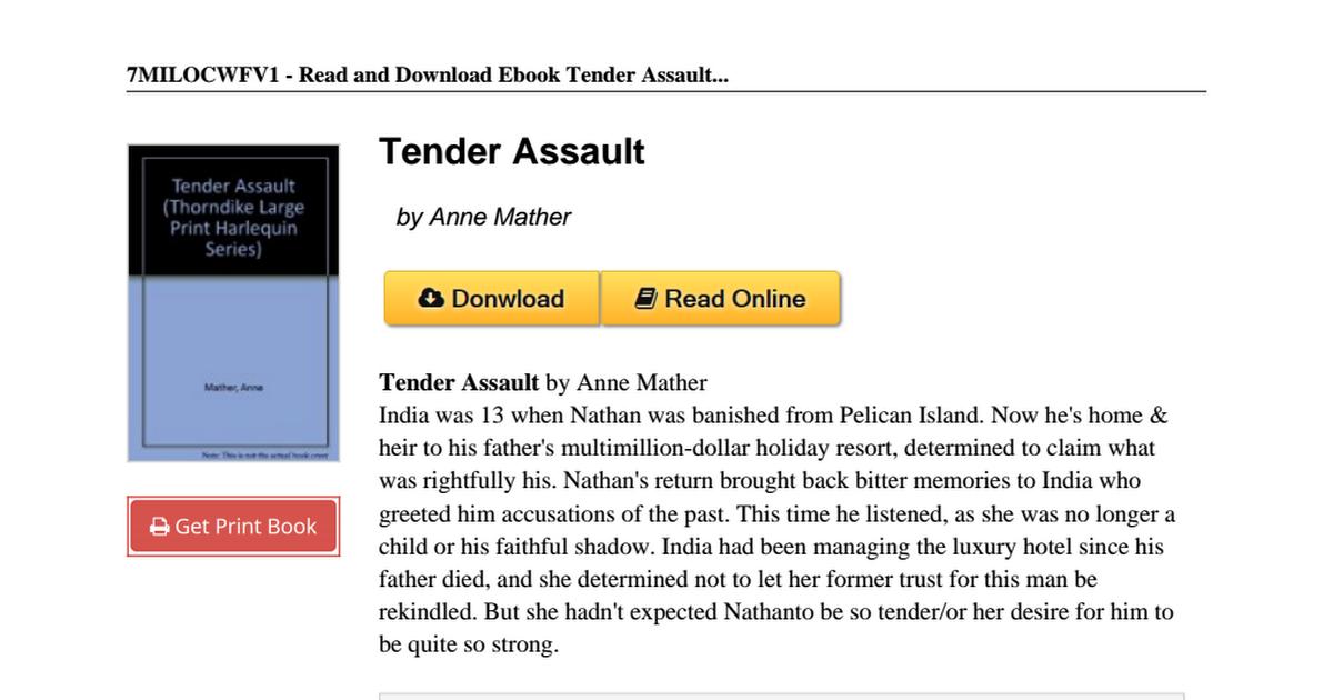 Tender-Assault-Anne-Mather-0263137163 pdf - Google Drive