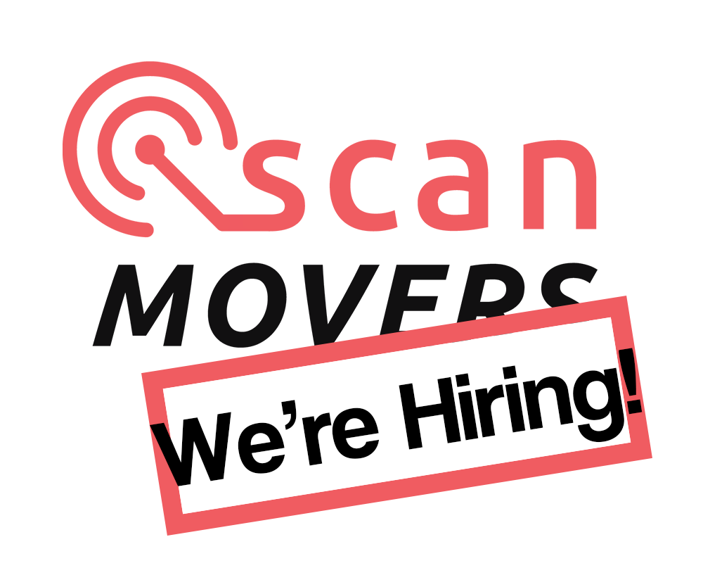 ScanMovers logo met we are hiring