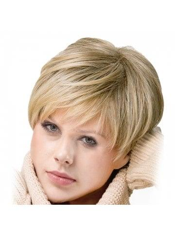 Inclined Bang Short Colormix Straight Synthetic Wig