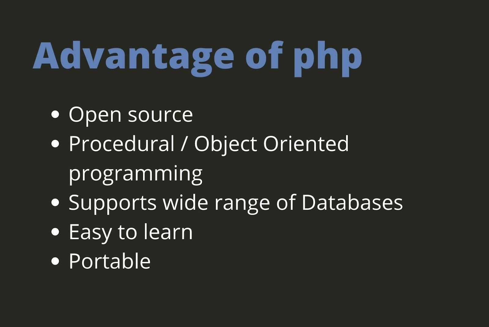 php in a web application