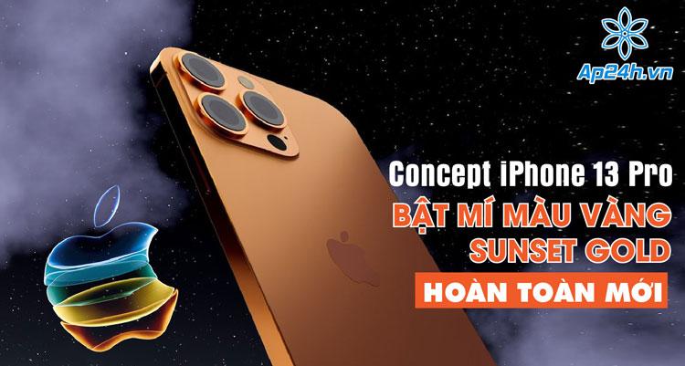 iPhone 13 Pro với màu vàng Sunset Gold