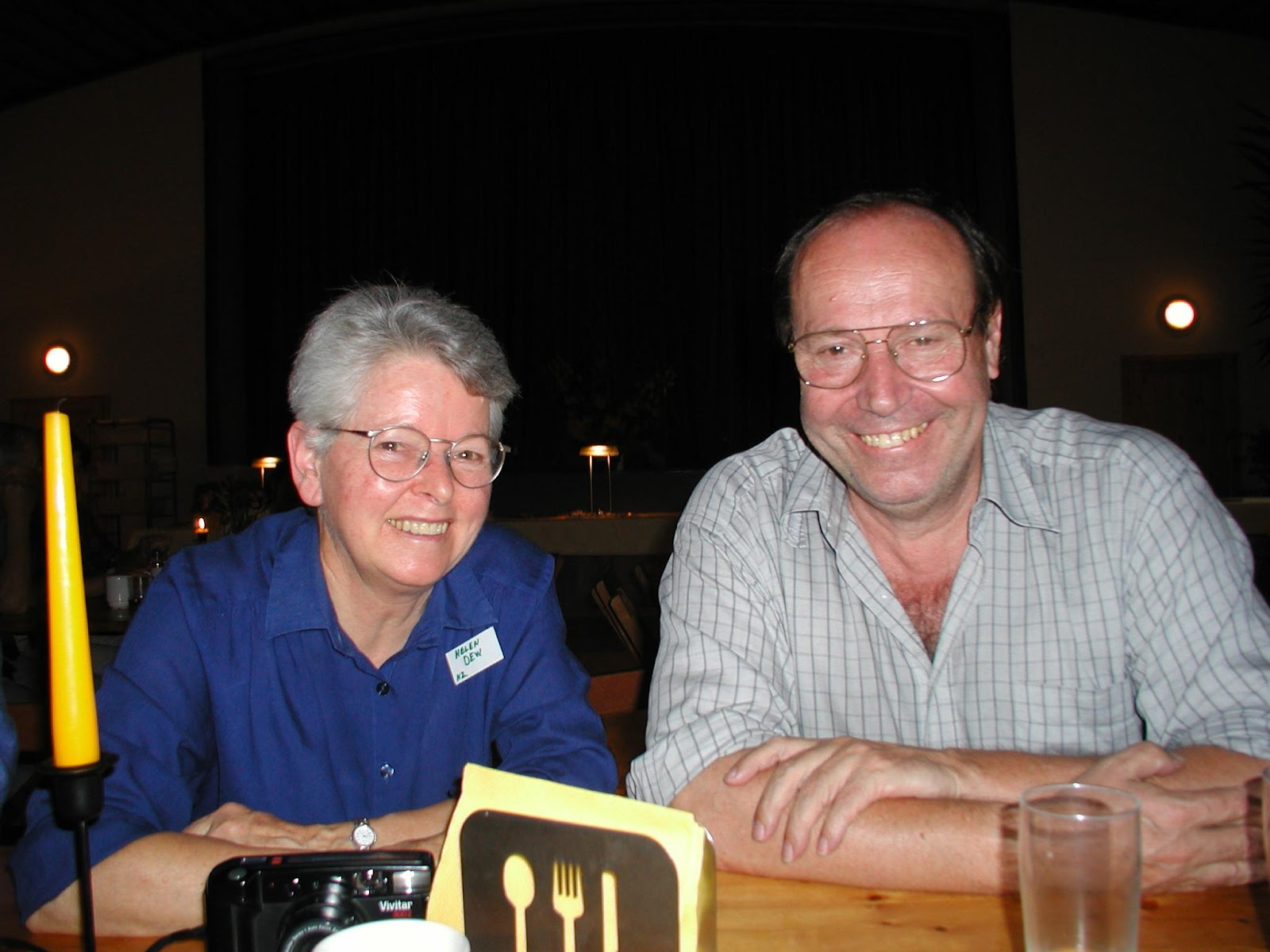 Helen Dew and Bernard Lietaer, 2003 in Steyerberg, Germany
