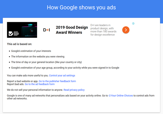 How Google shows you ads