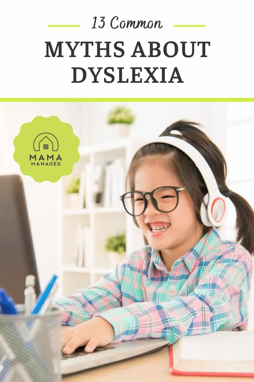 child writes letters backwards dyslexia myth pin