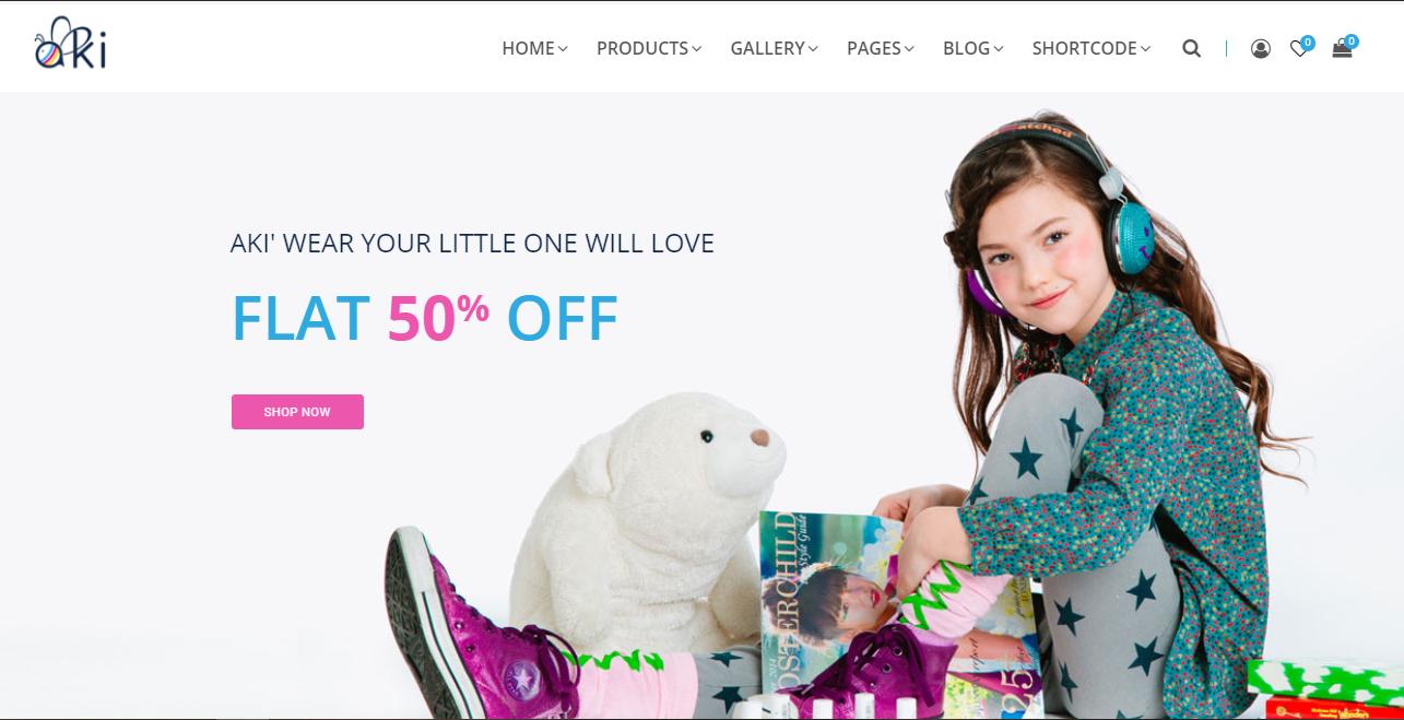 Aki - fashion ecommerce wordpress themes