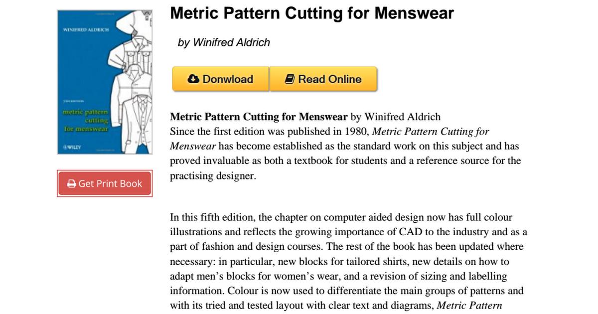 Pattern cutting menswear winifred aldrich 1405182938pdf google drive fandeluxe Images
