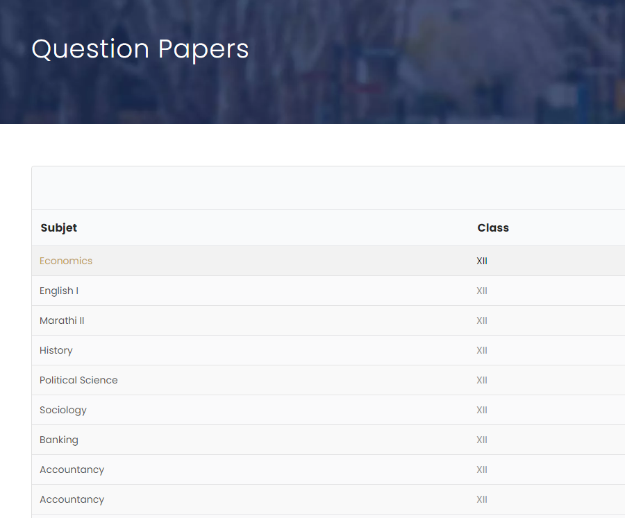 Steps to download Goa Board Papers