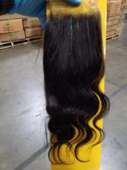 Hair products from a Chinese shipment seized by U.S. Customs and Border Protection on July 1, 2020.