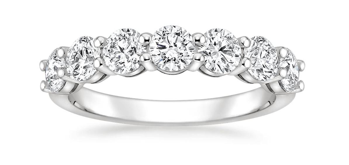 round seven stone diamond ring