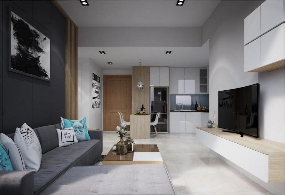 Thiết kế căn hộ chung cư 1 phòng ngủ Vinhomes Smart City