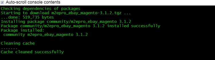 install magento extension successfully