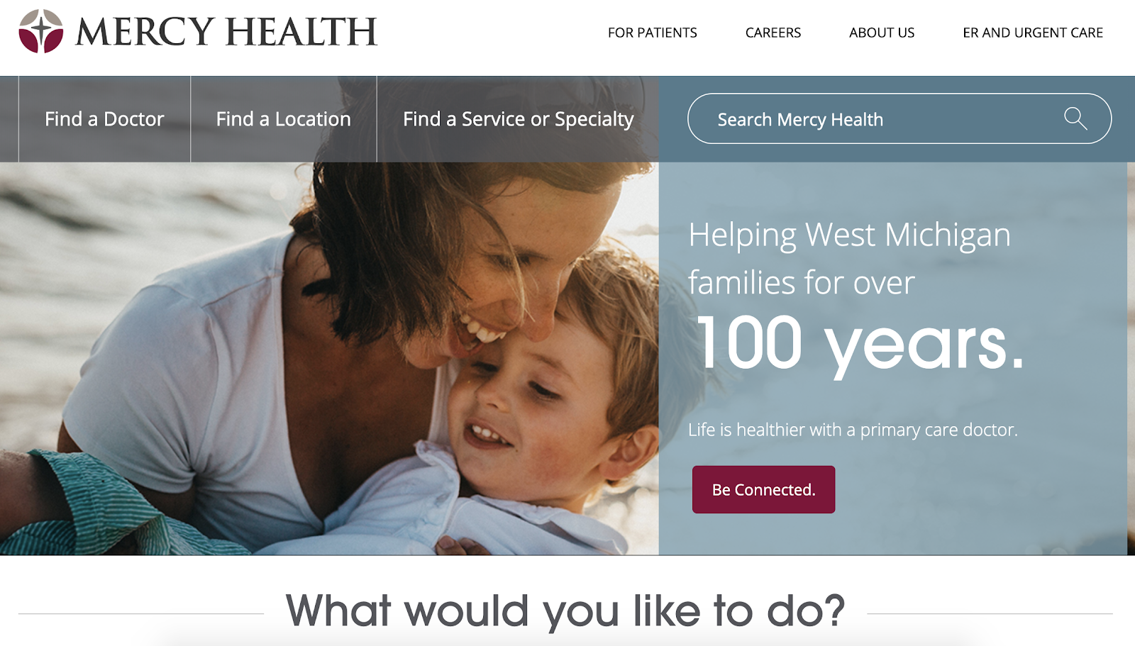Mercy Health shows simple healthcare UX design