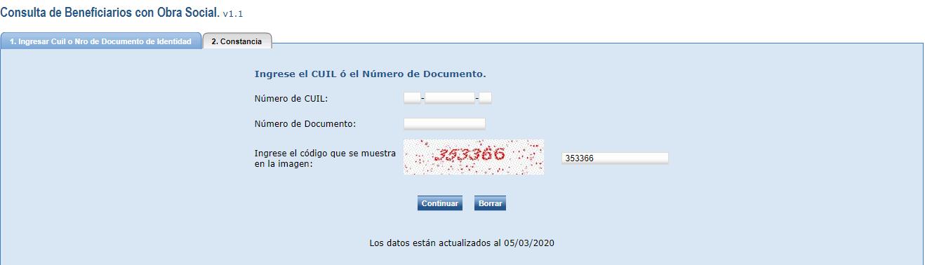 Paso 2, completar formulario CODEM