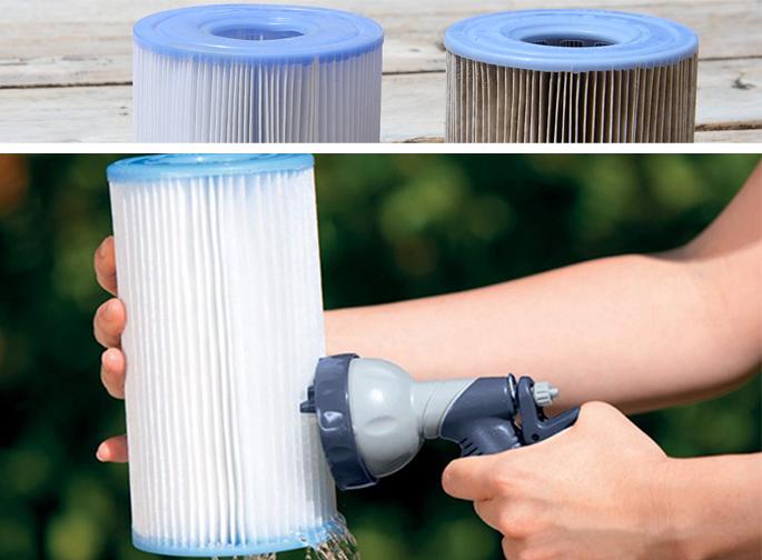 Bien nettoyer la cartouche filtrante du spa gonflable