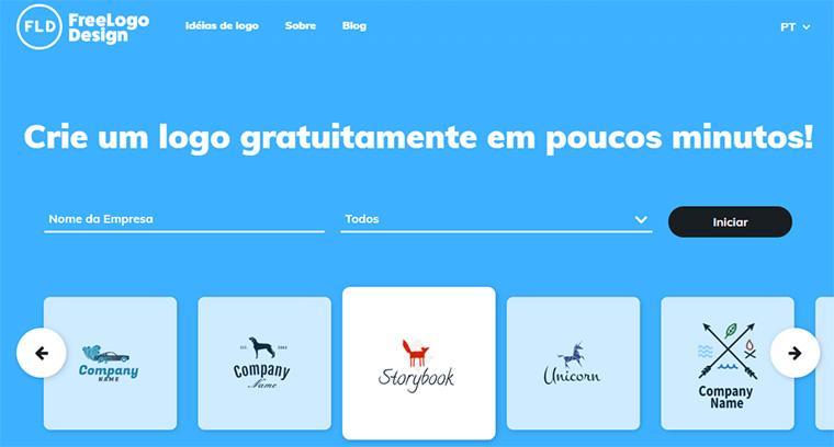 página inicial do freelogodesign