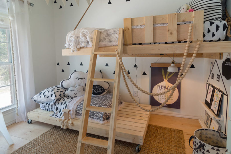 Plywood Loft Bed for Kid's Bedroom