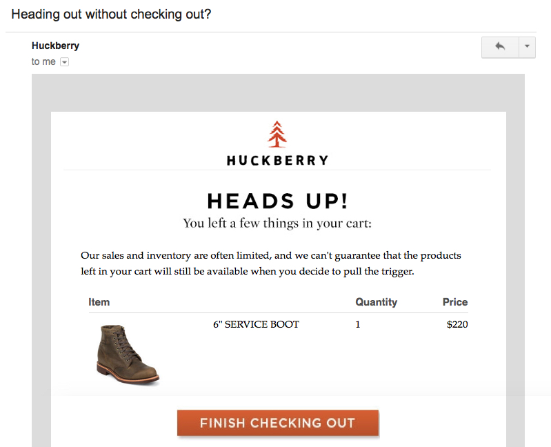 Huckberry dynamic content example
