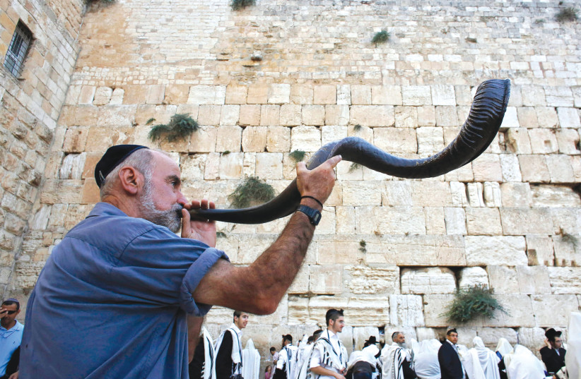 THE SHOFAR, an integral part of Jewish heritage (photo credit: REUTERS)