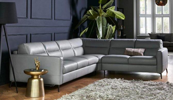 Top 5 ghế sofa góc hiện đại màu xám