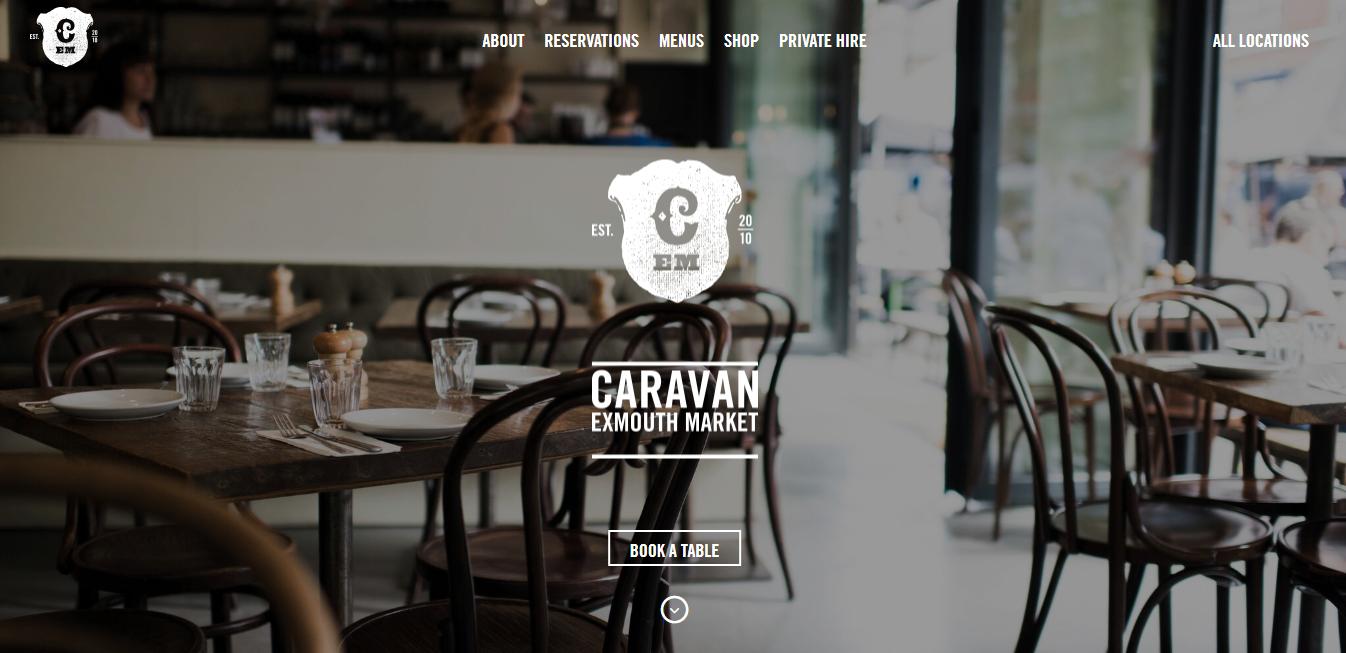 Strona internetowa Caravan Exmouth market