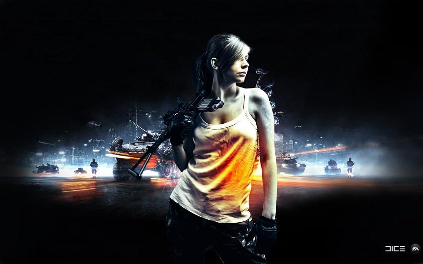 Ngắm gái cái để bắt đầu quá trình cài đặt Battlefield 3 nào!!