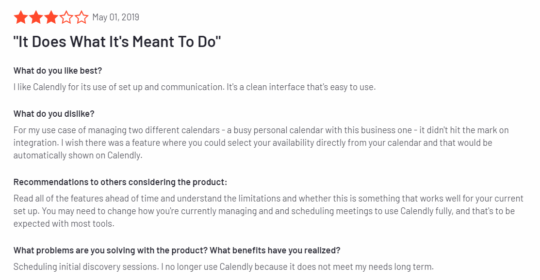 calendly review