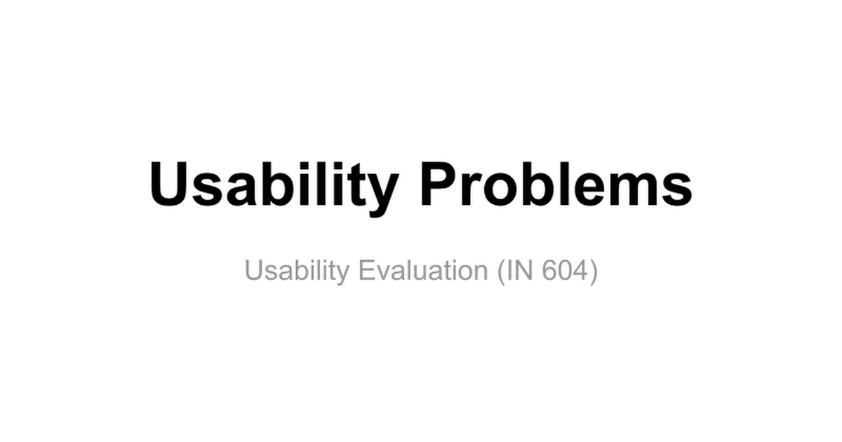 usability evaluation Comparison of usability evaluation methods this article provides insufficient context for those unfamiliar with the subject please help improve the article with.