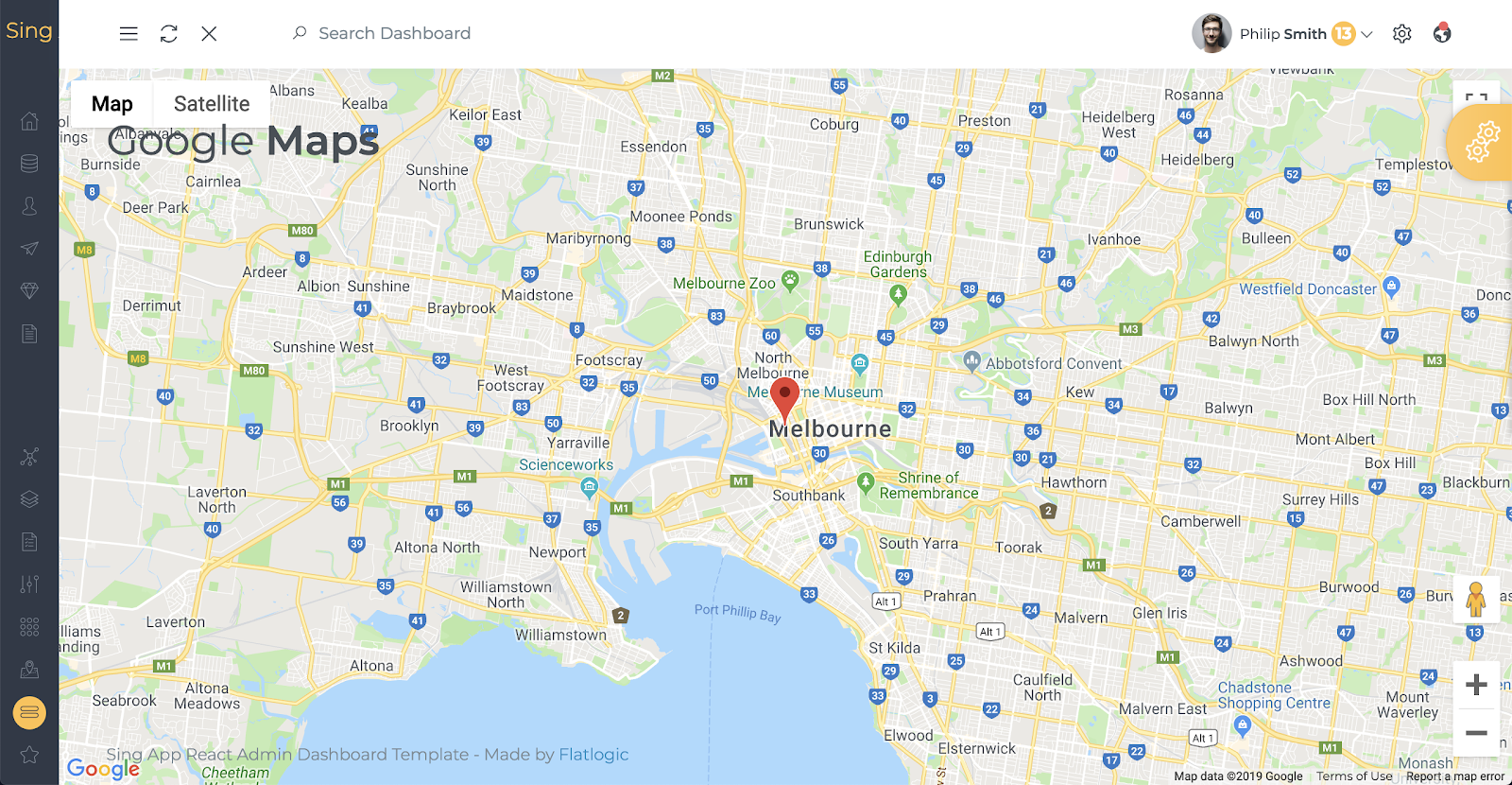 sing app maps component