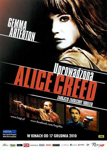 Przód ulotki filmu 'Uprowadzona Alice Creed'