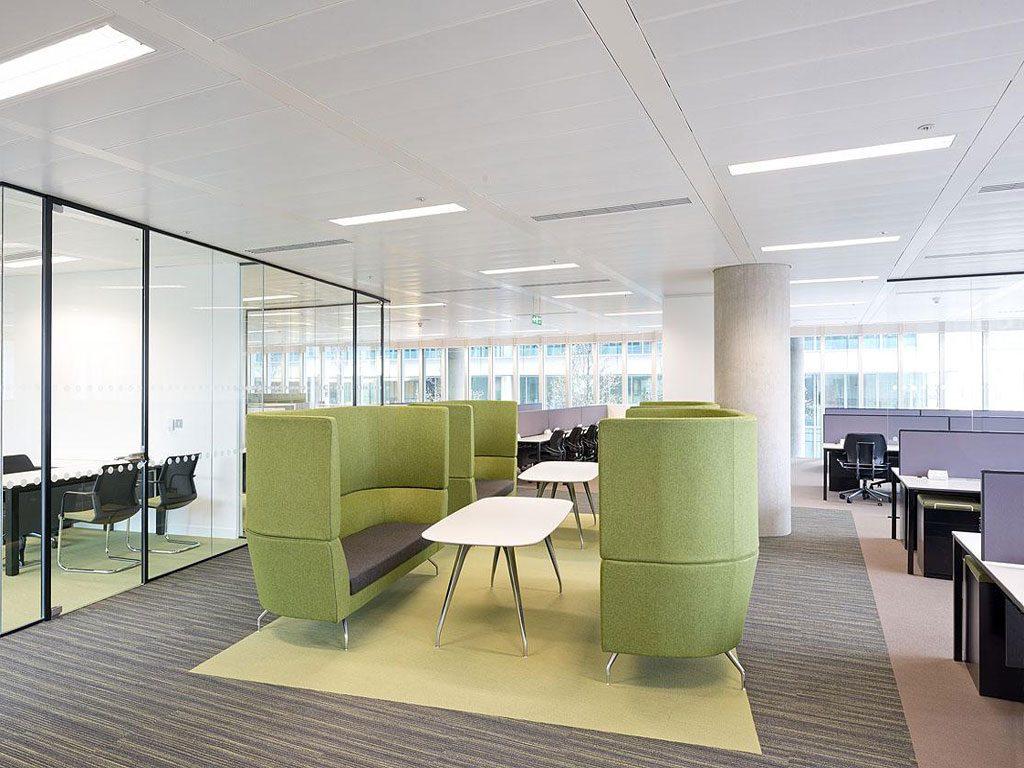 Nội thất văn phòng mang mảng xanh cho không gian