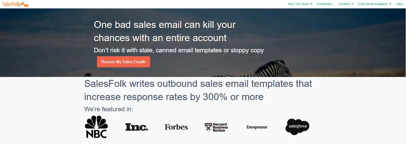 SalesFolk - managed marketplace for freelance copywriters