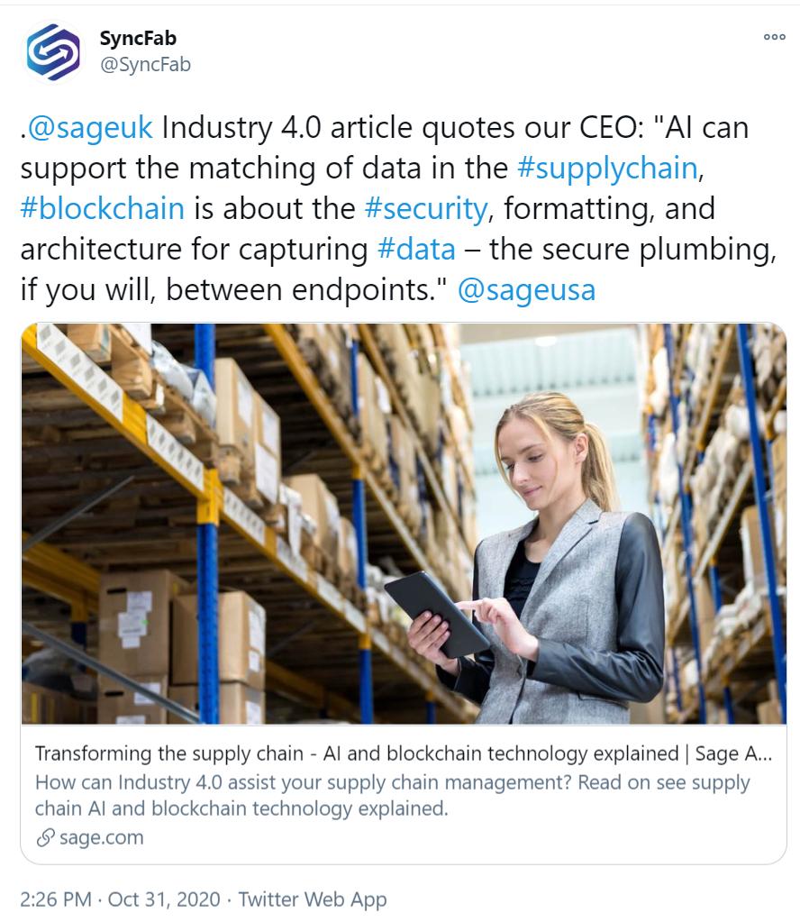 syncfab-sage-erp-supplychain-blockchain-solution