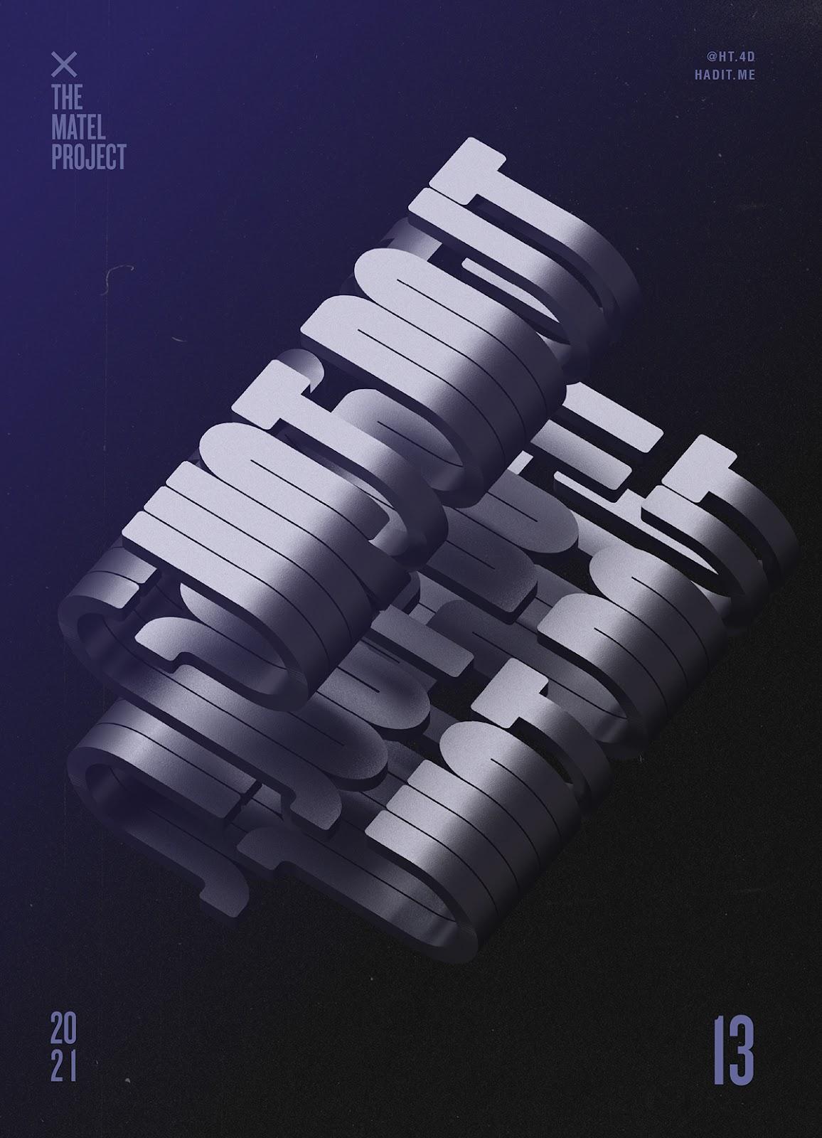 c4d posters typo 3DType typography   3D 3dart 3dposters type