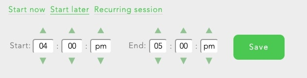 You can schedule email blocks in advance using 'Start Later' block sessions.
