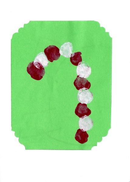 Karácsonyi üdvözlőlap ujjlenyomatokból