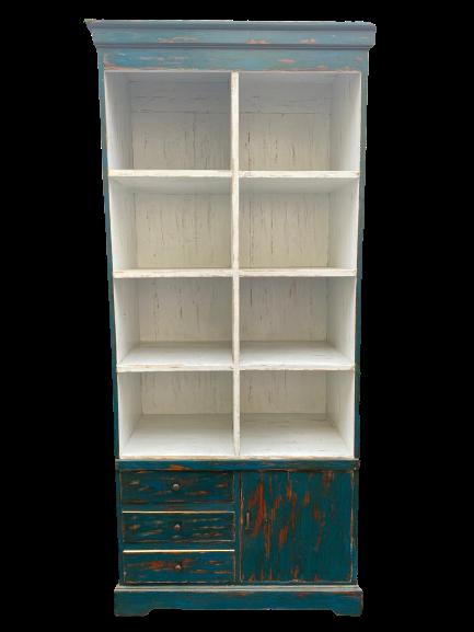 Teak Bookcase 8 shelves, 3 drawers & 1 door