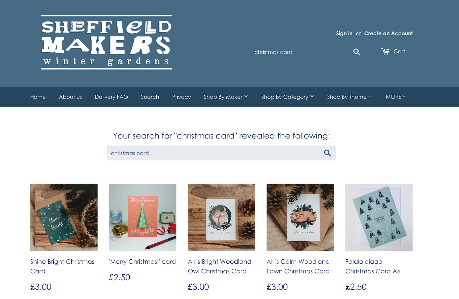 Sheffield Makers search results for Christmas cards