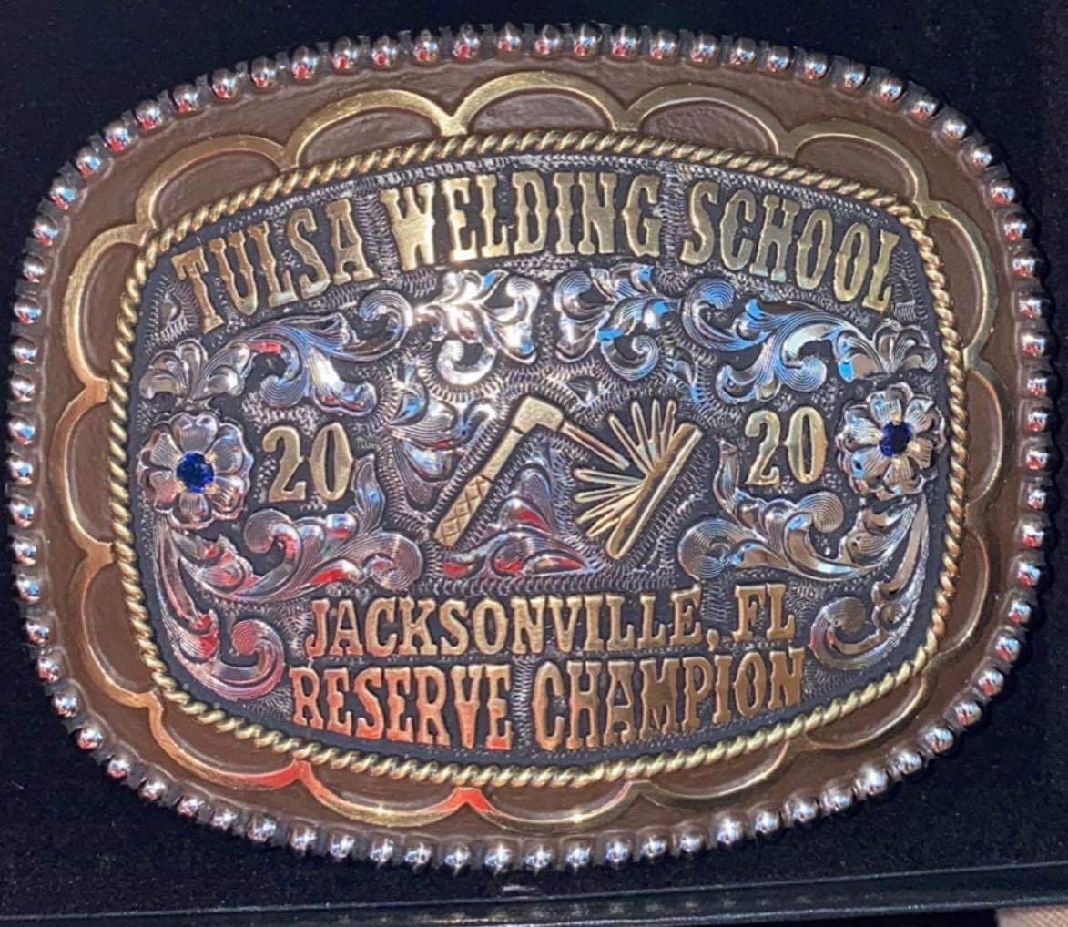 Where can you win a scholarship for welding and a really cool belt buckle? Only at the CCA!