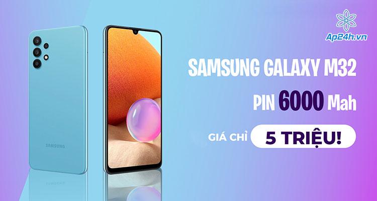 Thiết kế tràn viền cực đẹp của Samsung Galaxy M32