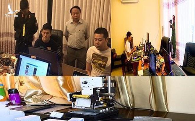 Các đối tượng người Trung Quốc làm thẻ tín dụng giả; thiết lập, quản trị hệ thống quảng cáo trang mạng đánh bạc, game bài