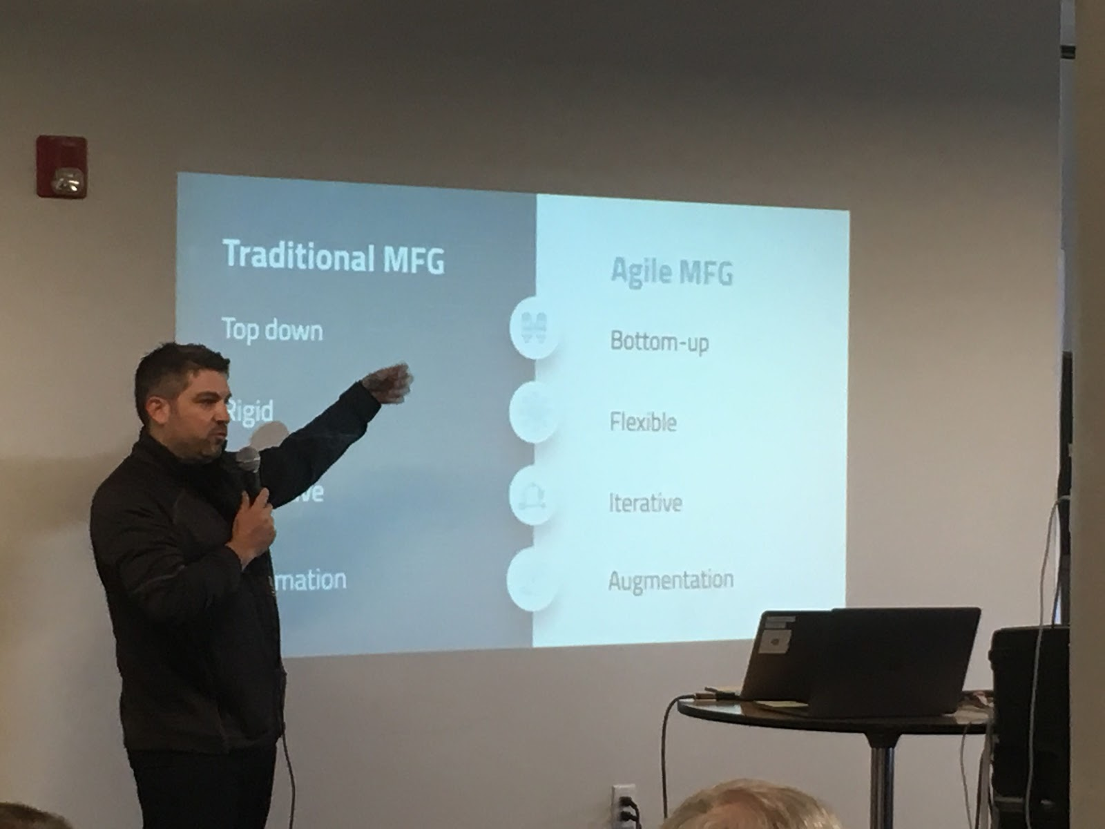 Tulip CEO Natan Linder describing agile MFG at Tulip's Agile MFG Summit