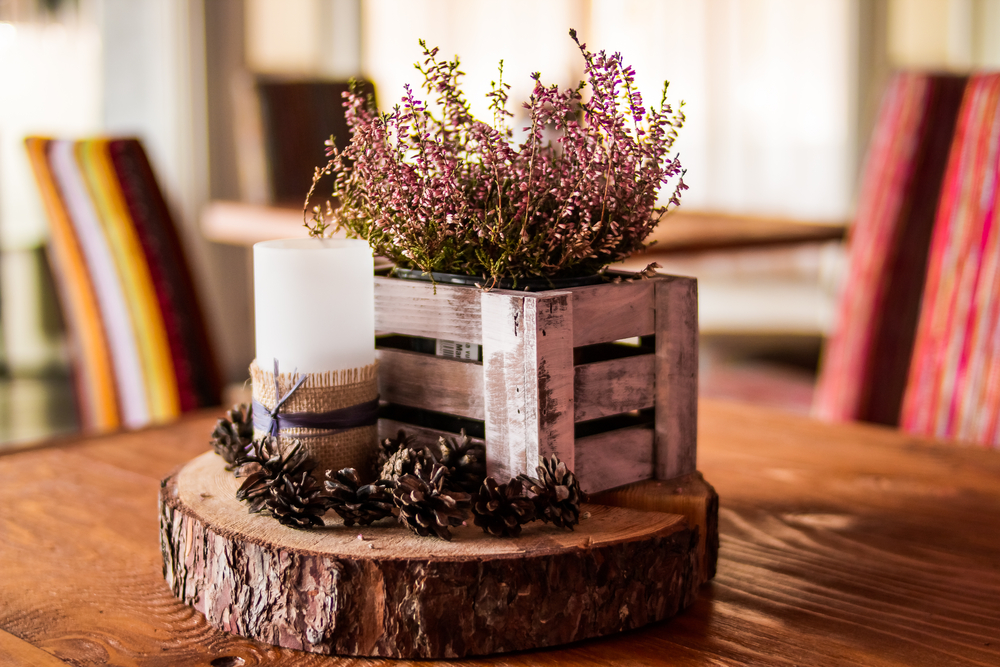 Natural Wood Centerpiece