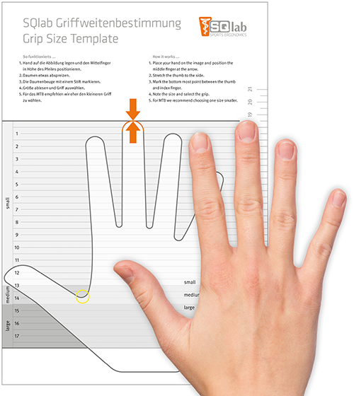 A hand grip chart will help you determine the right mountain bike grip size for your hand
