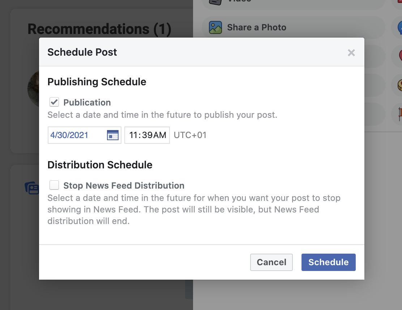 how to schedule instagram posts using facebook creator studio