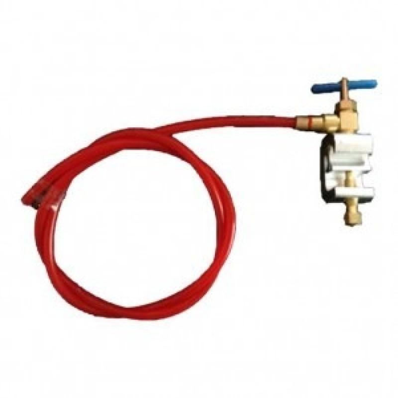 Saddle valve water filter connection
