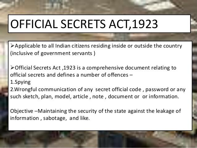 Image result for official secrets act 1923