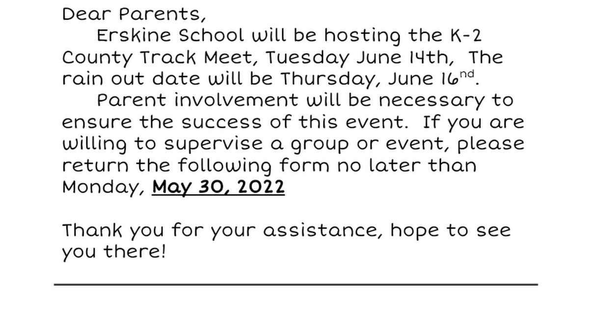 Thumbnail for Volunteer Letter for schools K-3.doc