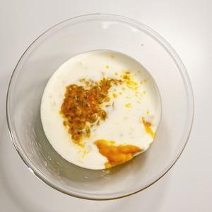 百香果芒果雪糕的做法 步骤4